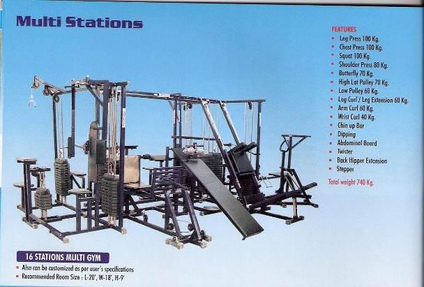 16 station multigym manufacturer in india