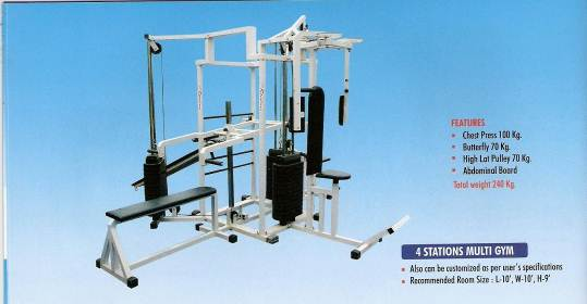 4 station gym manufacturer in india