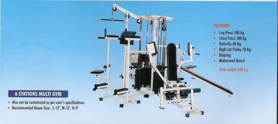 6 station multigym manufacturer in india