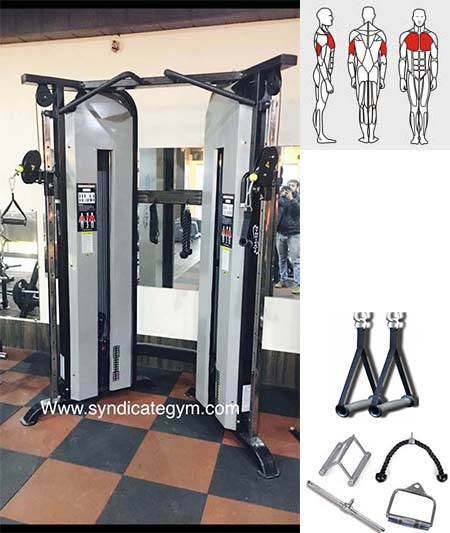 FUNCTIONAL TRAINER WITH ACCEESORIES manufacturer in india