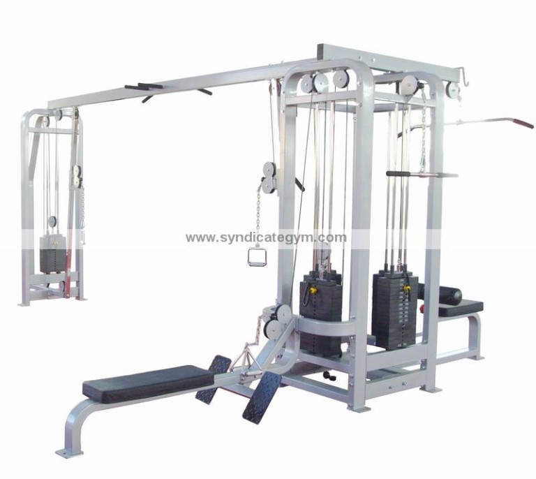 Jungle Gym with four station weight stack gym manufacturer in india