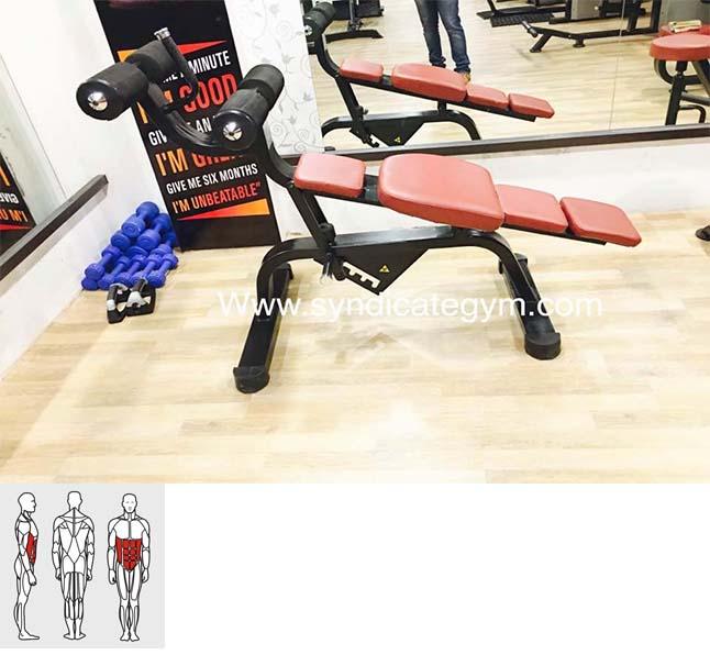 Gym Equipment Kolkata: Adjustable Abdominal Bench Manufacturer In India