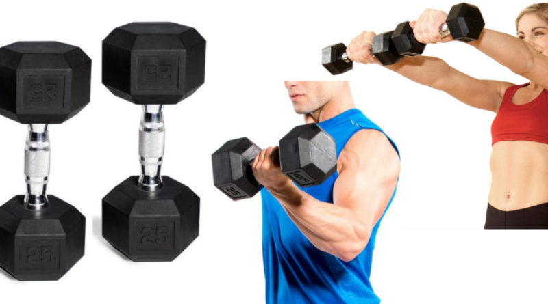 PU RED RUBBER COATED DUMBBELL