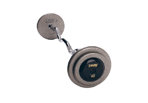 fixed weight barbells with rubber coated dumbbells